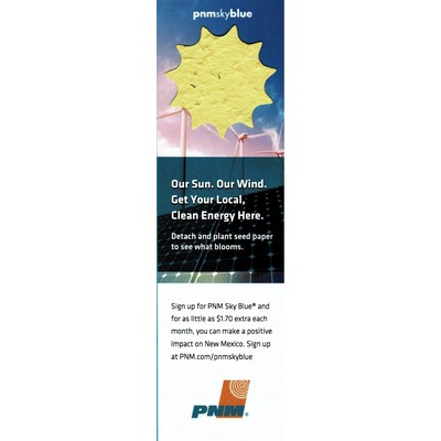 Sun Topped Seed Paper Bookmark