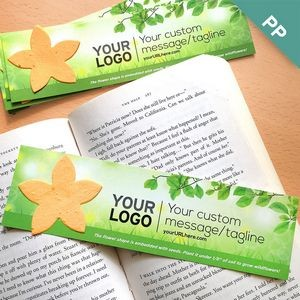 Grow Green Flower Shape Large Eco Bookmark